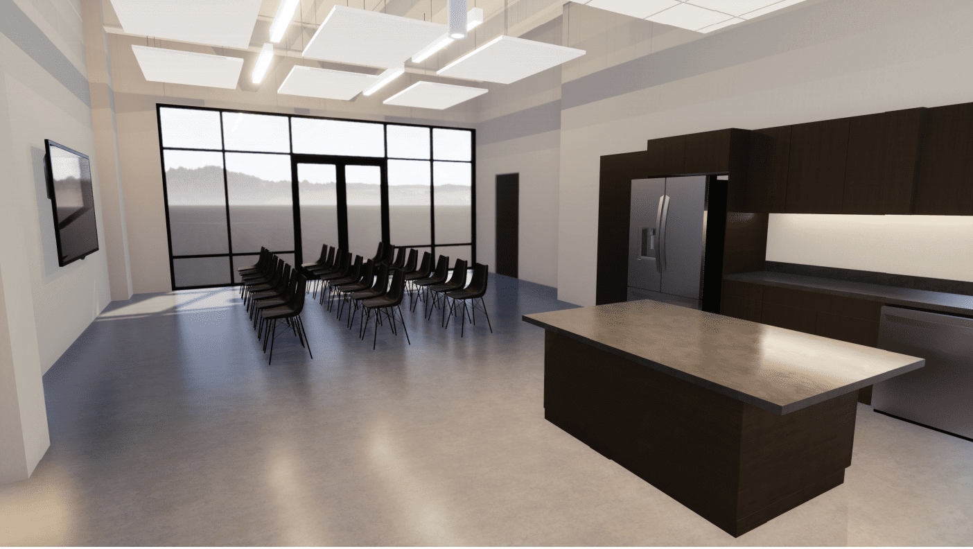 Community Room_Loehr Health Center at Farmers Park_by H Design Group