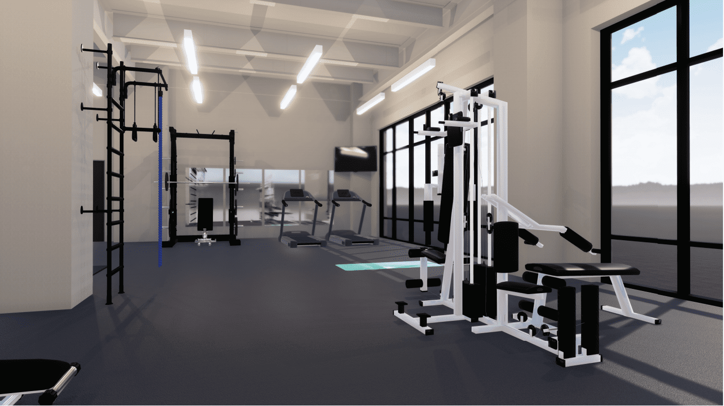 Rehab Area_Loehr Health Center at Farmers Park_by H Design Group